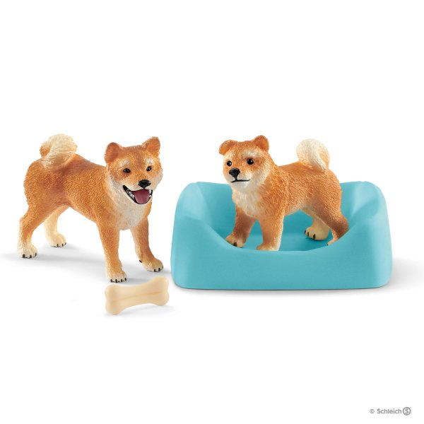Shiba Inu Mother And Puppy Toy Puppies Shiba Inu Pet Toys