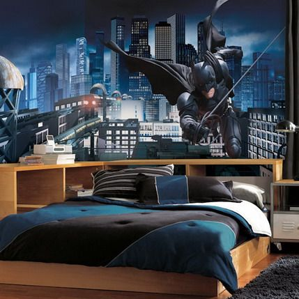 Awesome Painting Batman Bedroom Mural Decal Stickers Ideas