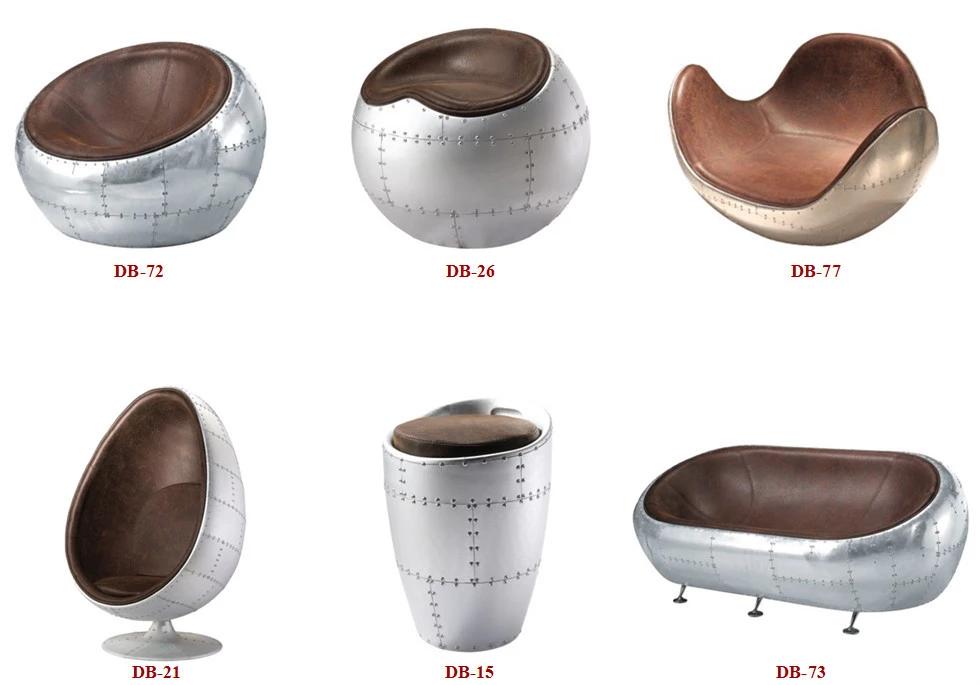 Leather Aviation Spitfire Aluminium Egg Pod Chair Buy Egg Pod Chair Aluminium Egg Chair Aluminum Back Egg Chair Aviation Furniture Aluminum Chairs Pod Chair