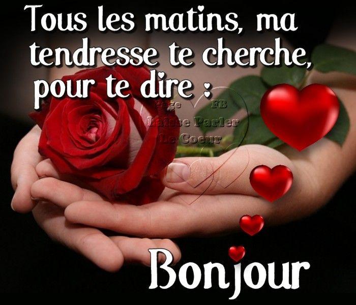 Bonjour Image 7588 Tous Les Matins Ma Tendresse Te