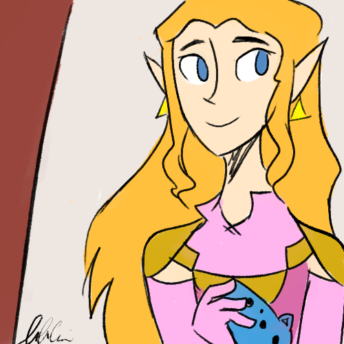 I drew oot zelda for one of my silly side blogs and I liked it so I fixed it up a bit uvu