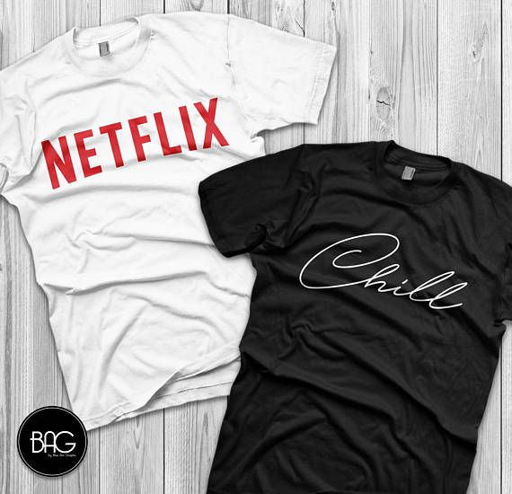 7010f949c Matching couple shirts Netflix and chill costume couple shirts | The ...