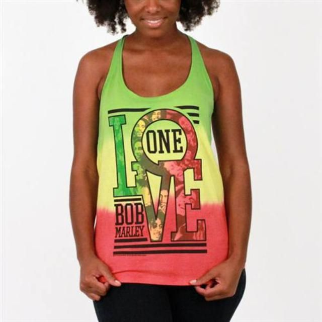 c930acef3a497e Check out Bob Marley Rasta One Love Tank on  Merchbar.