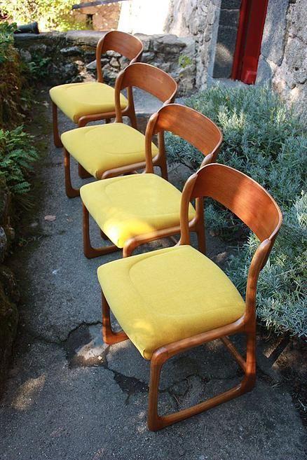 Chaises Baumann Style Traineau Des Annees 60 Chaise Chaises Baumann Salle A Manger Retro