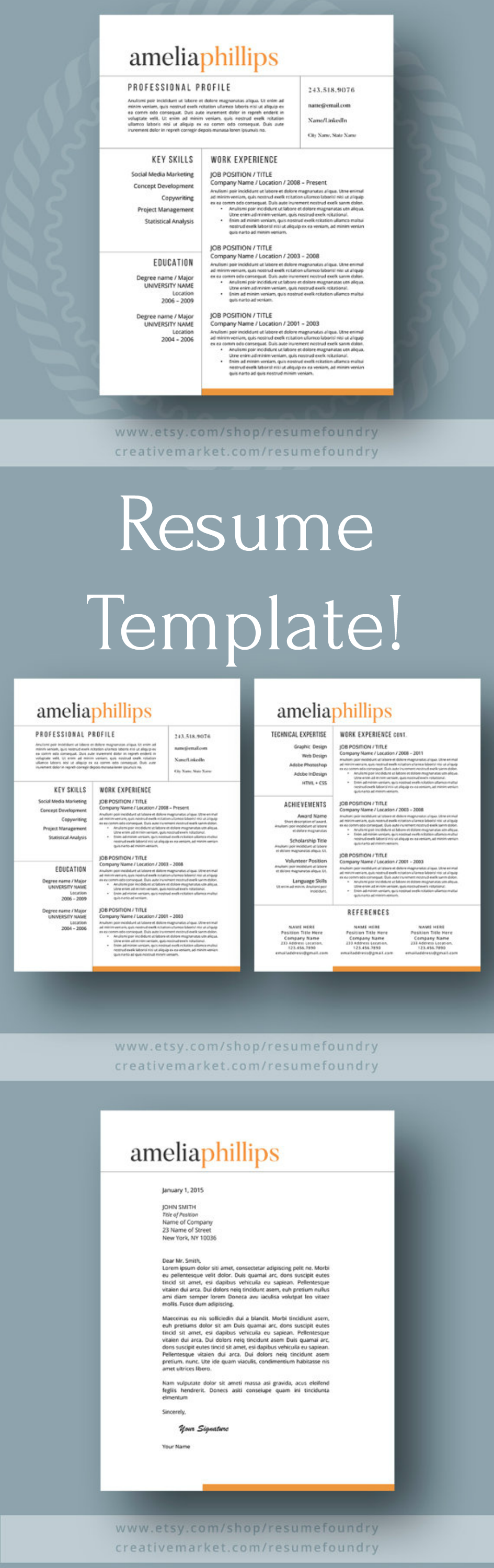 Complete And Stylish Resume Template To Help You Get That Perfect