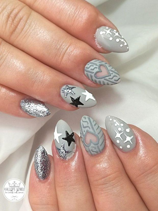 Photo of : Grey nails  #nails???? #nailart #greynails #winterfashion #wintermood,#grey
