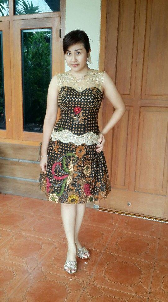Model Baju Batik Brokat : Model Baju Gamis Kombinasi Batik ...
