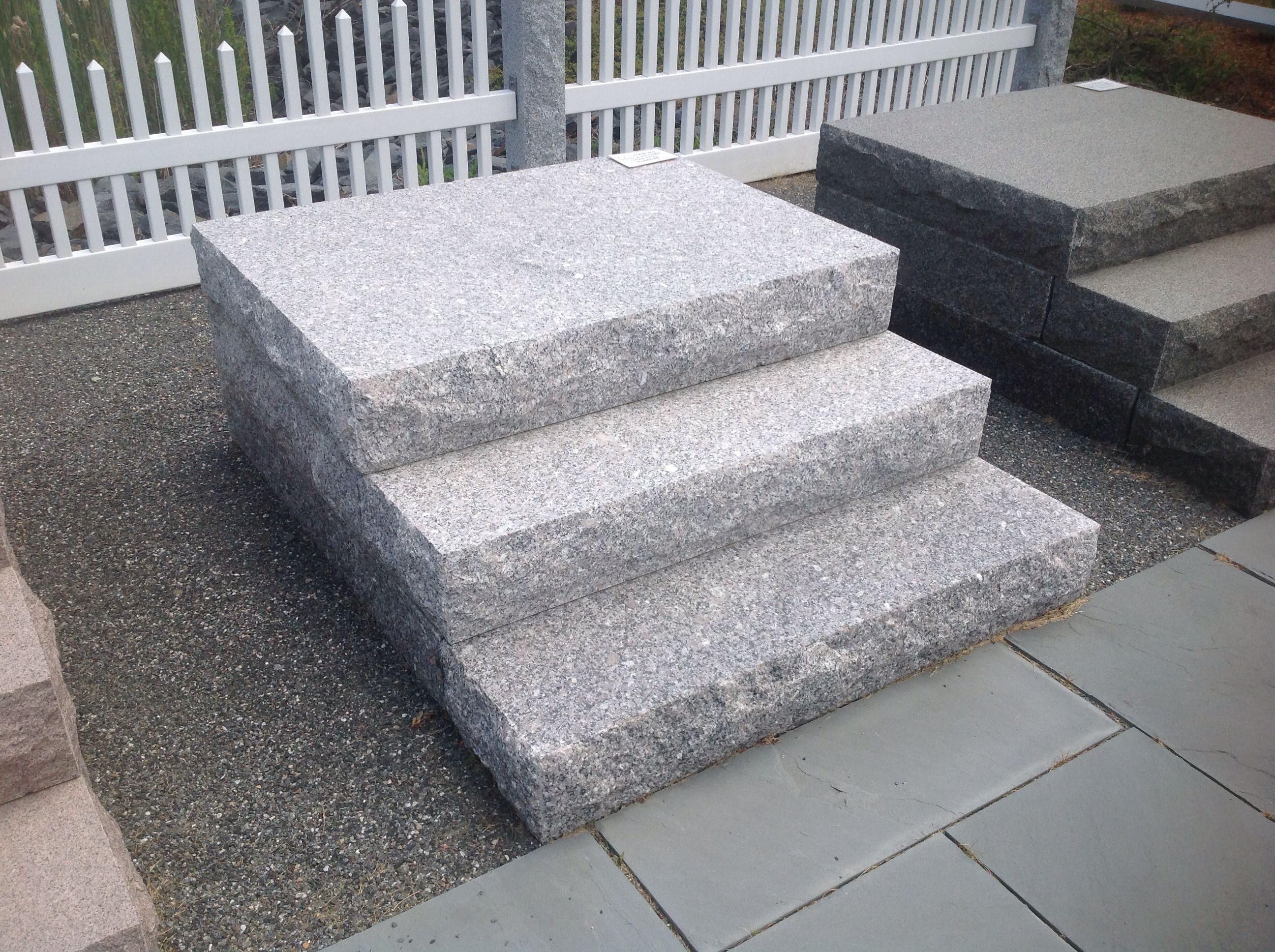 Granite Steps Front Door Steps Porch Steps Front Porch Decorating