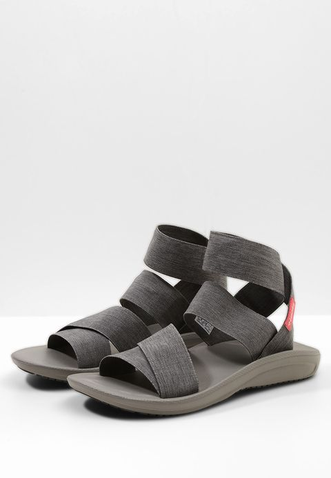 Columbia BARRACA STRAP - Walking sandals - dark grey/wild salmon