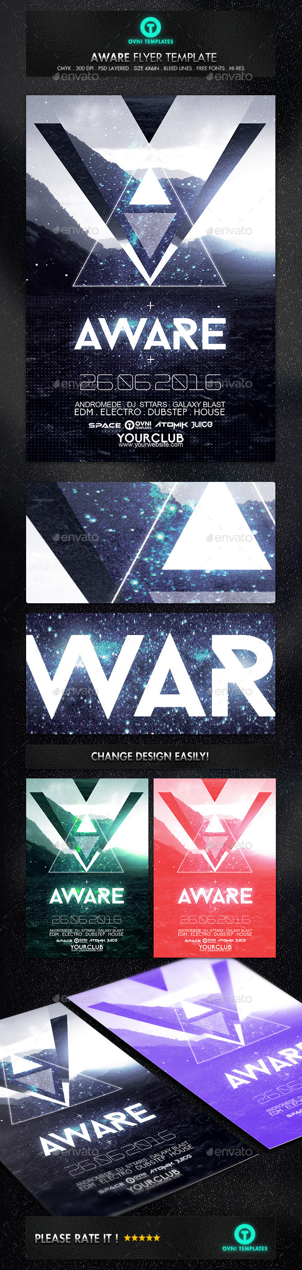 Abstract Futuristic Electro Flyer Psd Template  Download  Https