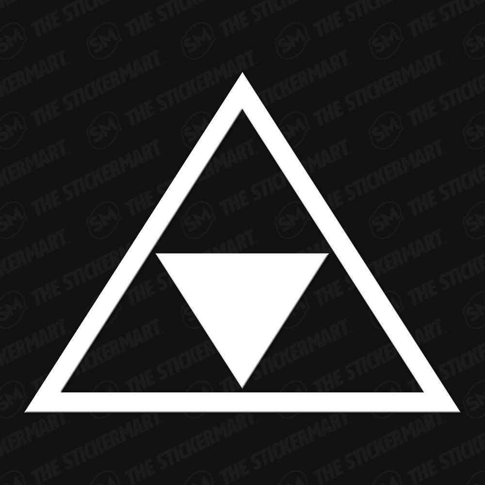Legend of Zelda Triforce Outline Vinyl Decal Triforce
