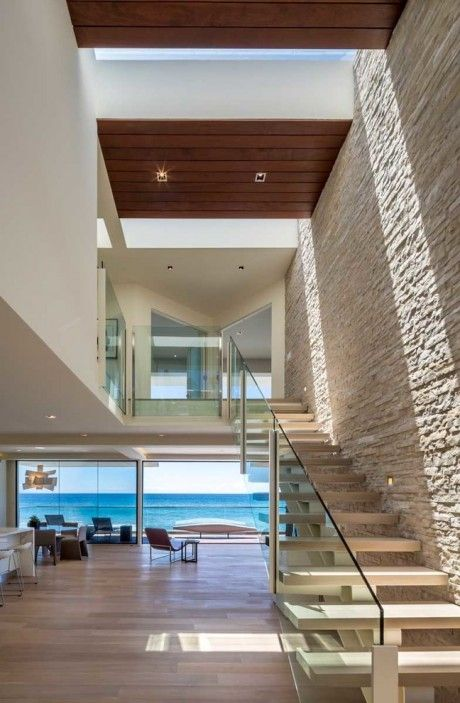 Wave House by Mark Dziewulski House, Architecture and Interiors