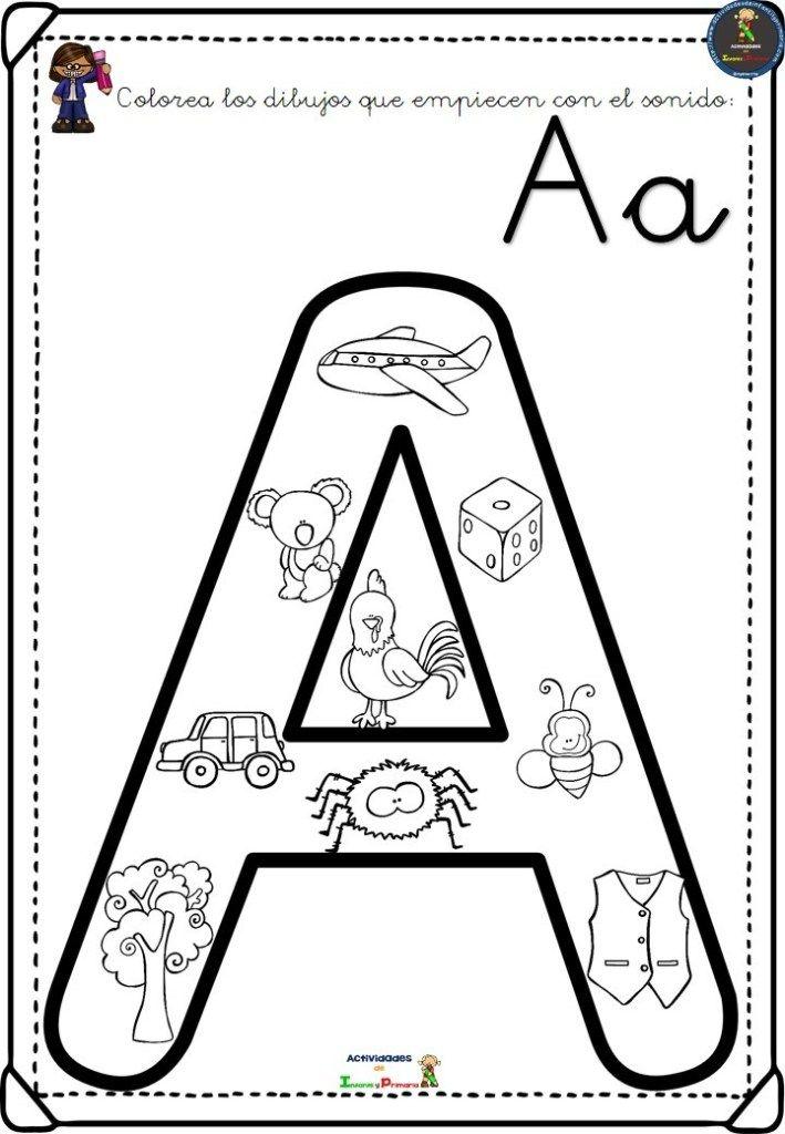 Completo Alfabeto Para Colorear Aprender El Abecedario El