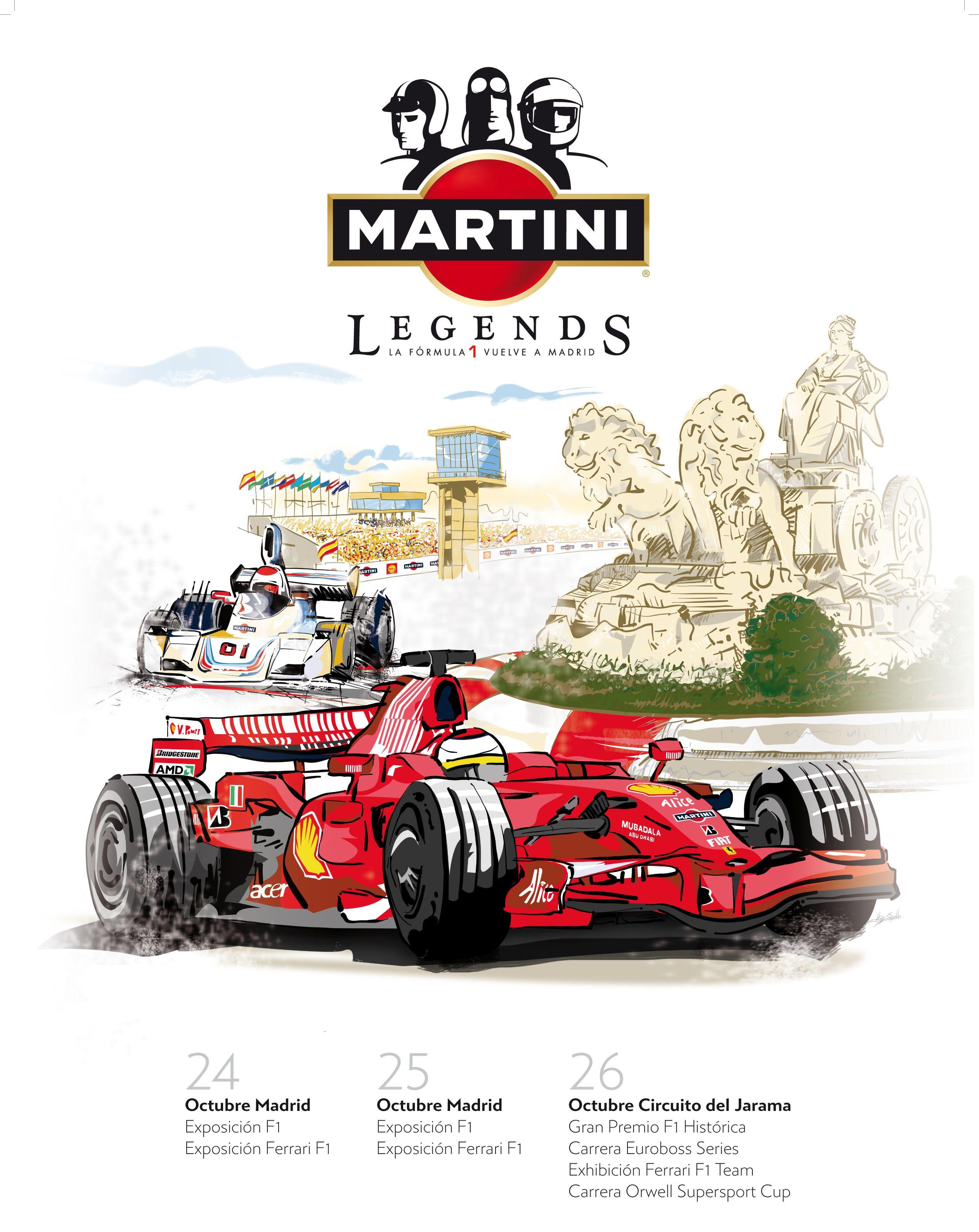 Martini Legends Motorsport Art Martini Race Cars