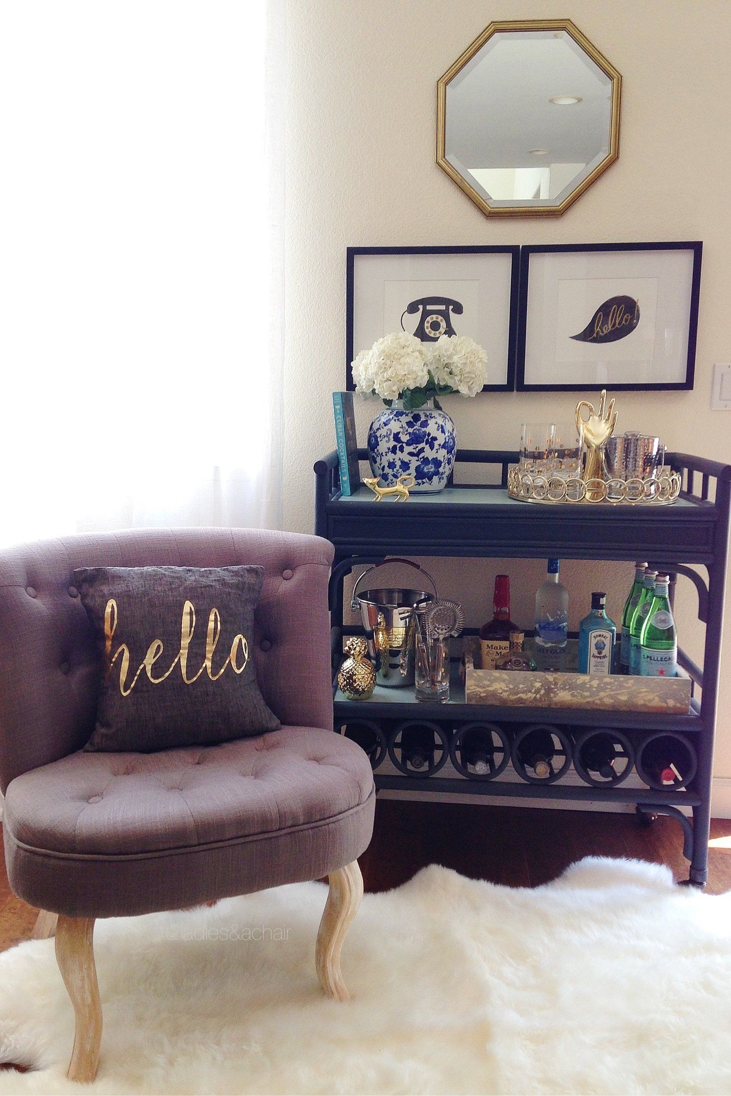 This Bar Cart Is Loaded With Great Essentials From Homegoods Even On The I Love Displaying In Trays Keeping It All Organized