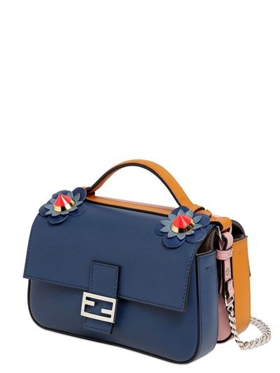 ea8b32c873 FENDI DOUBLE MICRO BAGUETTE LEATHER BAG - LUXURY SHOPPING WORLDWIDE SHIPPING  - FLORENCE