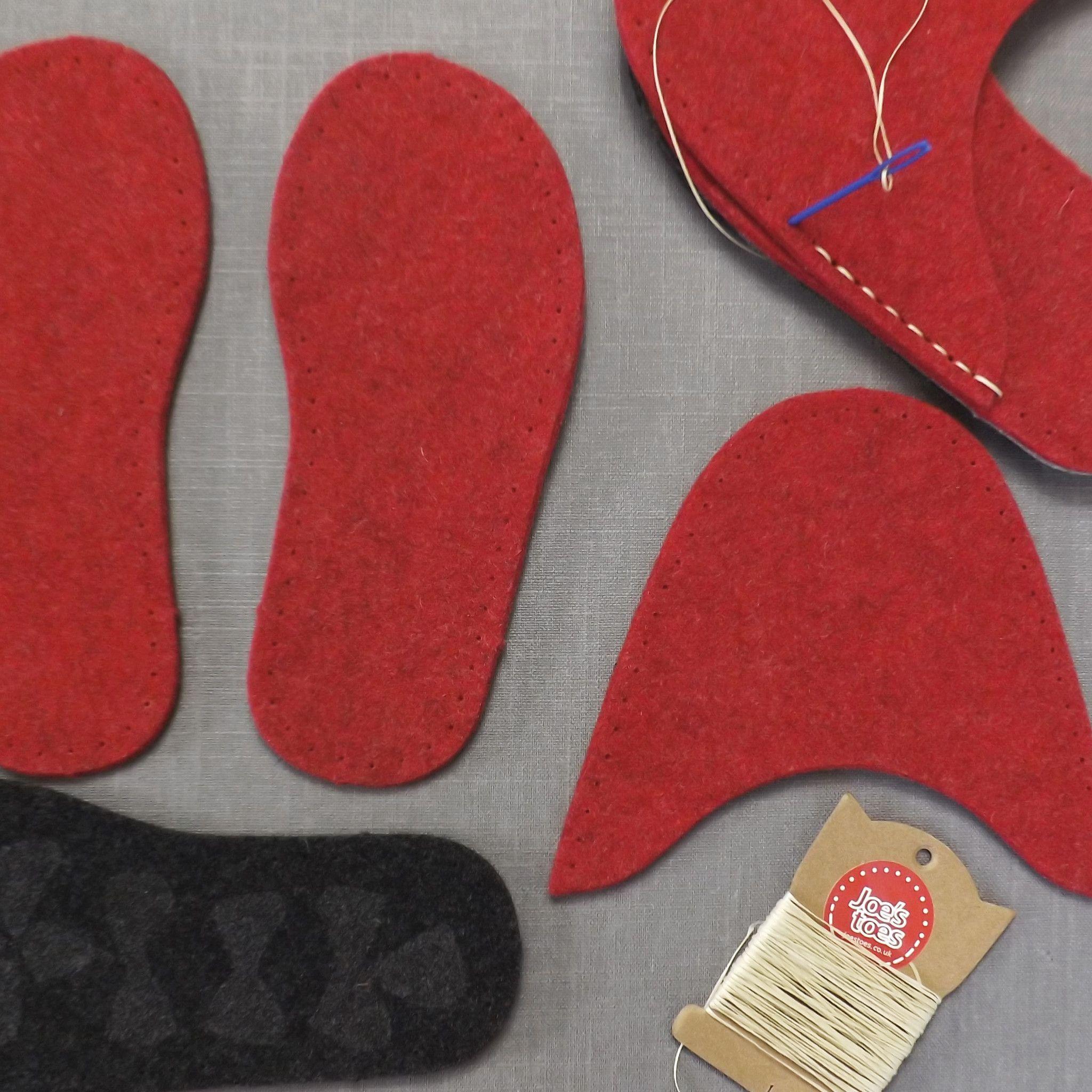 Photo of Joe's Toes Complete DIY Felt Slippers