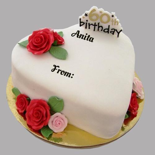 Happy 60th Birthday Cake With Anil Anita Anil Happy 60th