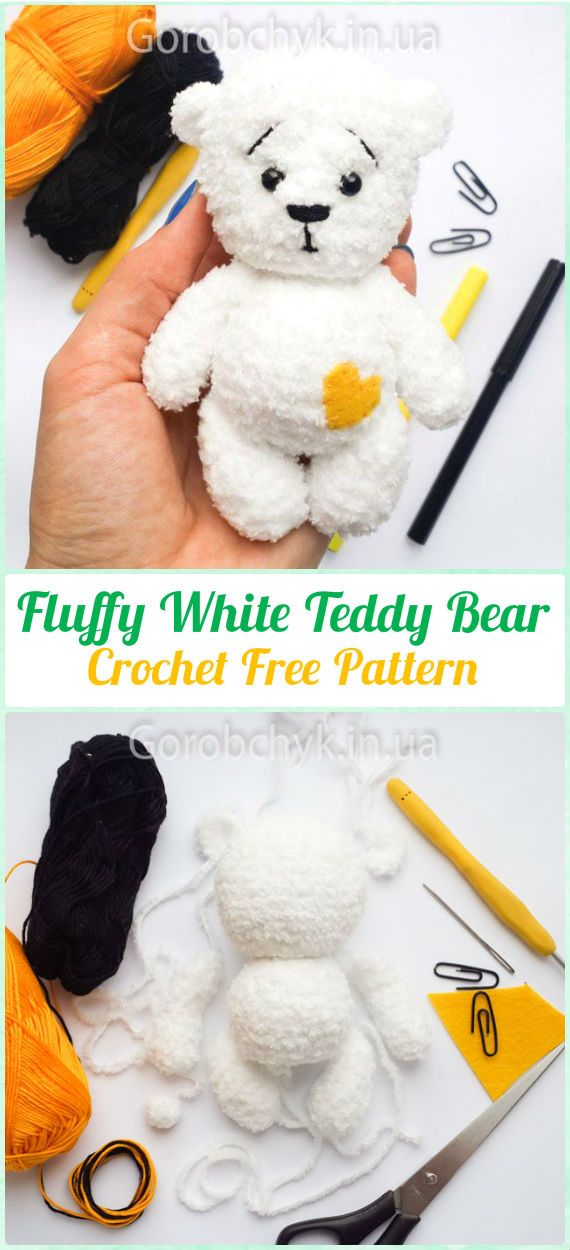 Amigurumi Crochet Teddy Bear Toys Free Patterns | Osos, Patrones ...
