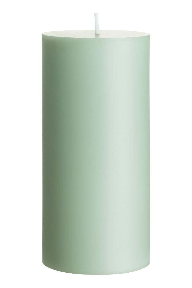 Large Pillar Candle Dusky Green H M Home H M Us Large