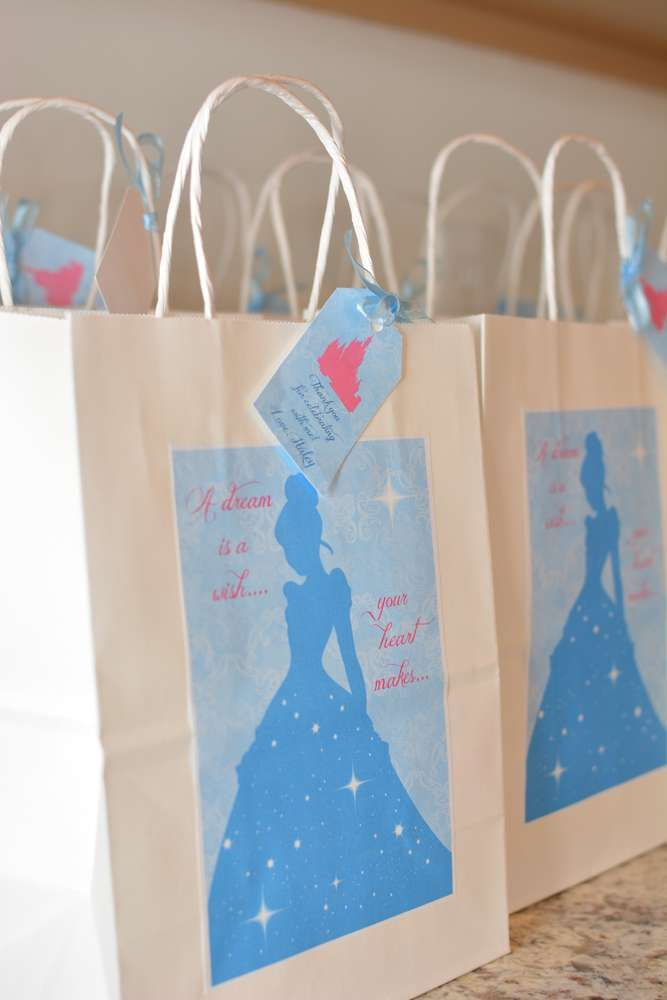 Cinderella Birthday Party Catchmyparty Favor Bags