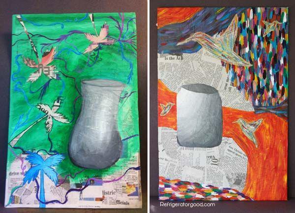 Cool Creative Teachniques For School Art Proejct