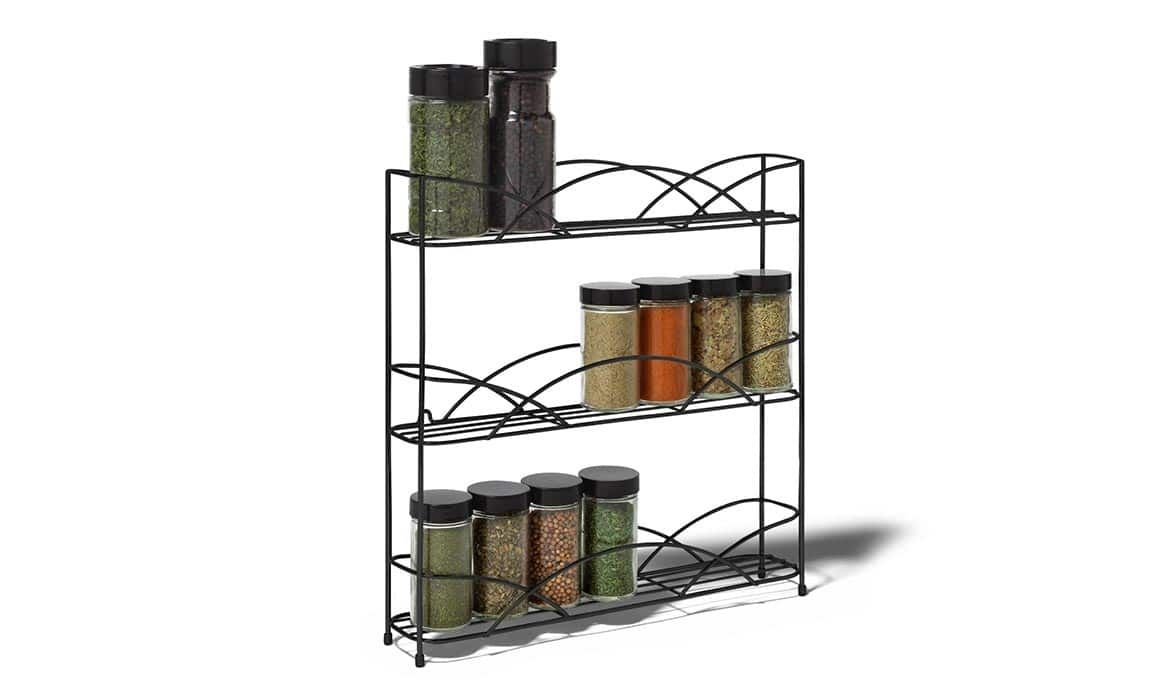 3 Tiers Wall Spice Rack Counter Top Wire Spice Rack With Images