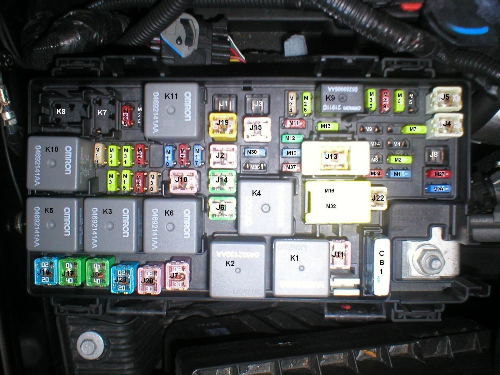 Jeep JK Fuse Box Map Layout Diagram - JeepForum.com
