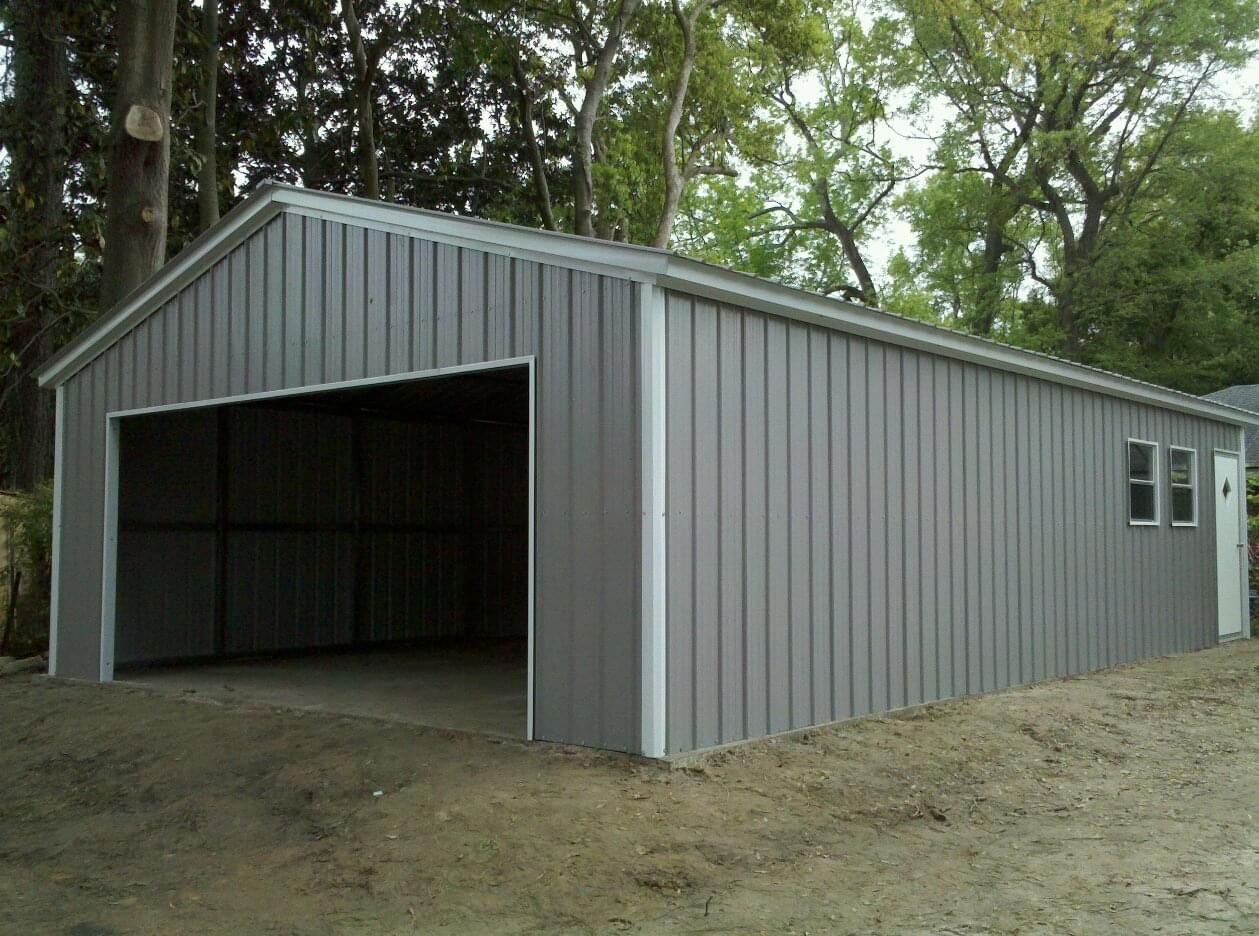 20x41x10 Vertical Garage Building Enclosed Workshop Structure Steel Workshop Buildings Building A Garage Metal Garages