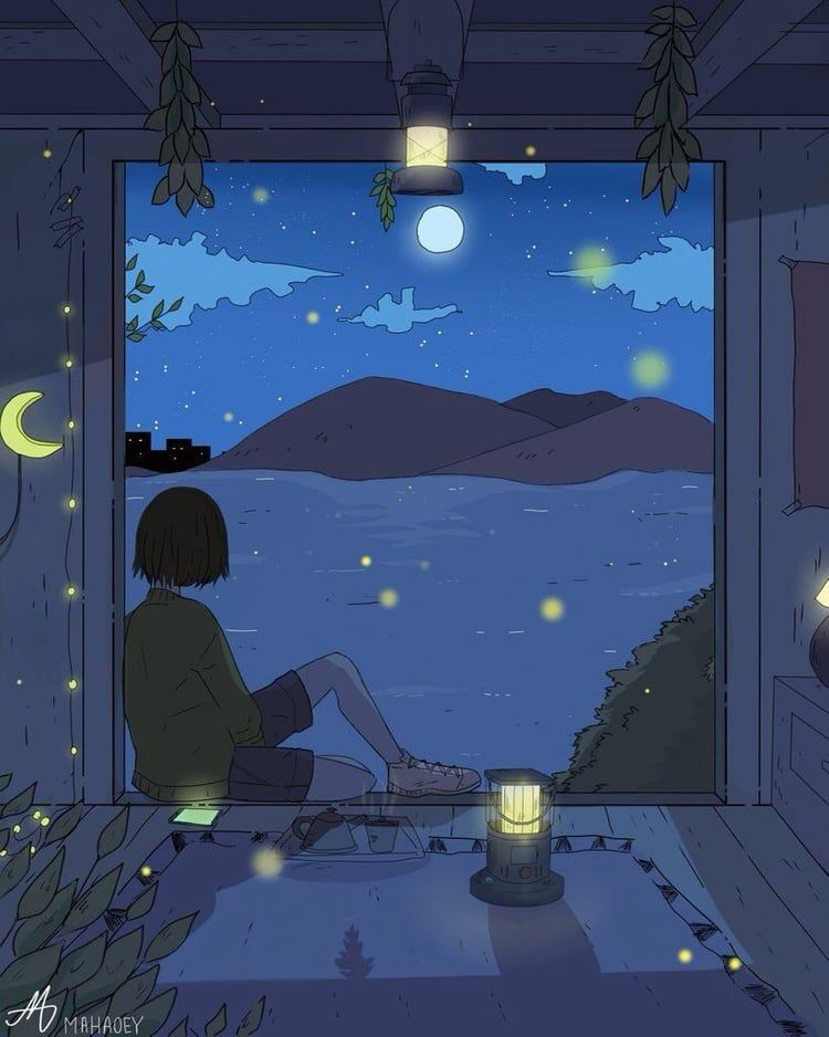 sky #magic #view #star #night #peace #window #girl https ...