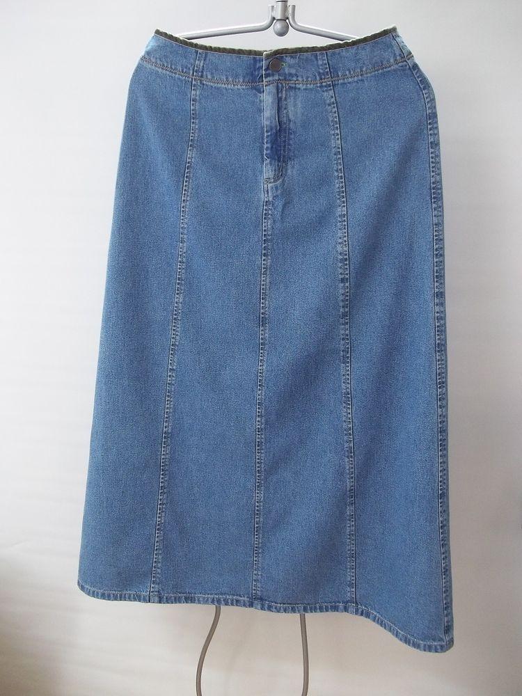 J Jill Jean Skirt Long Modest No Slits Size 6 Women's #JJill #LongModest