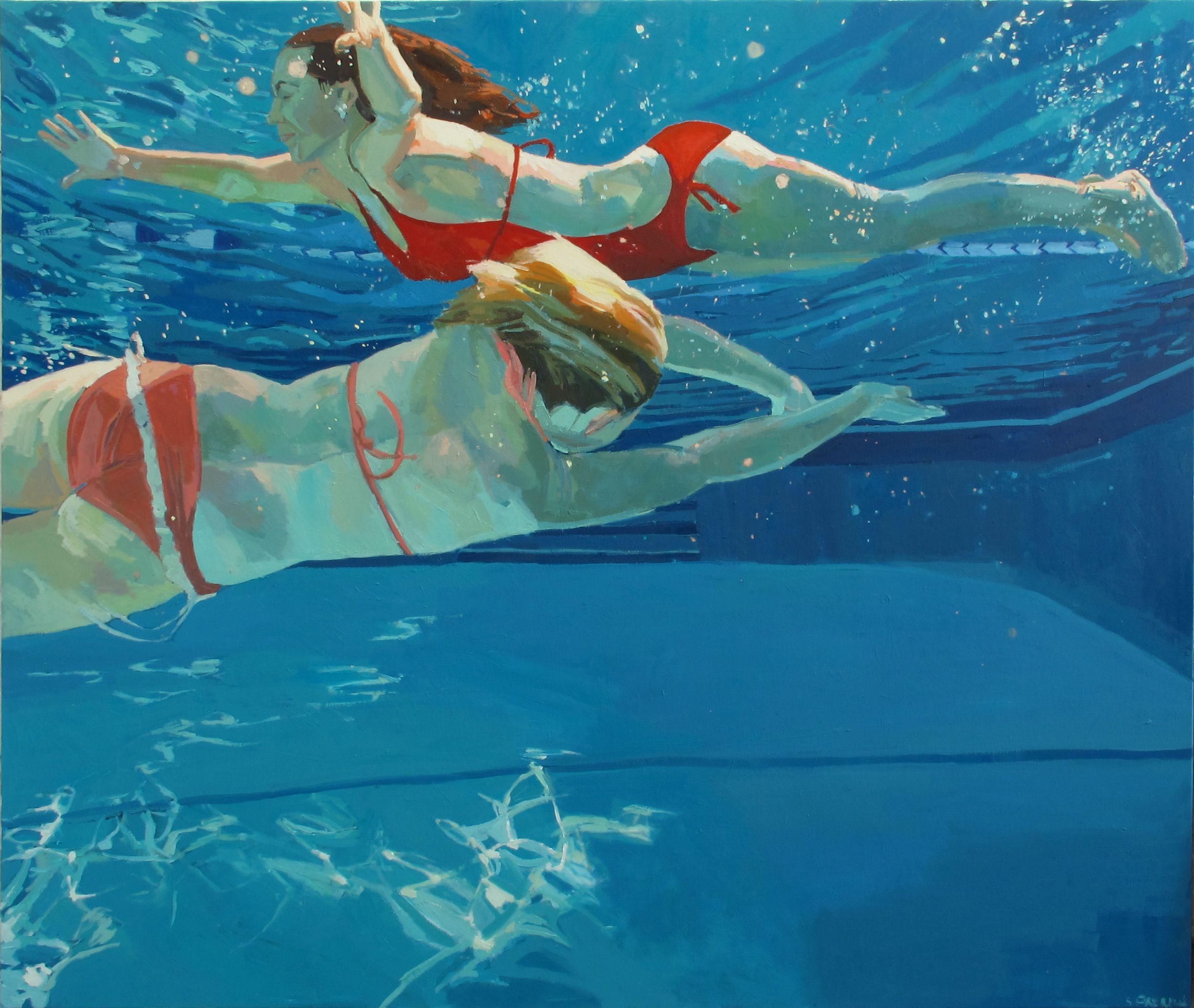 underwater paintings artwork - HD2500×2112