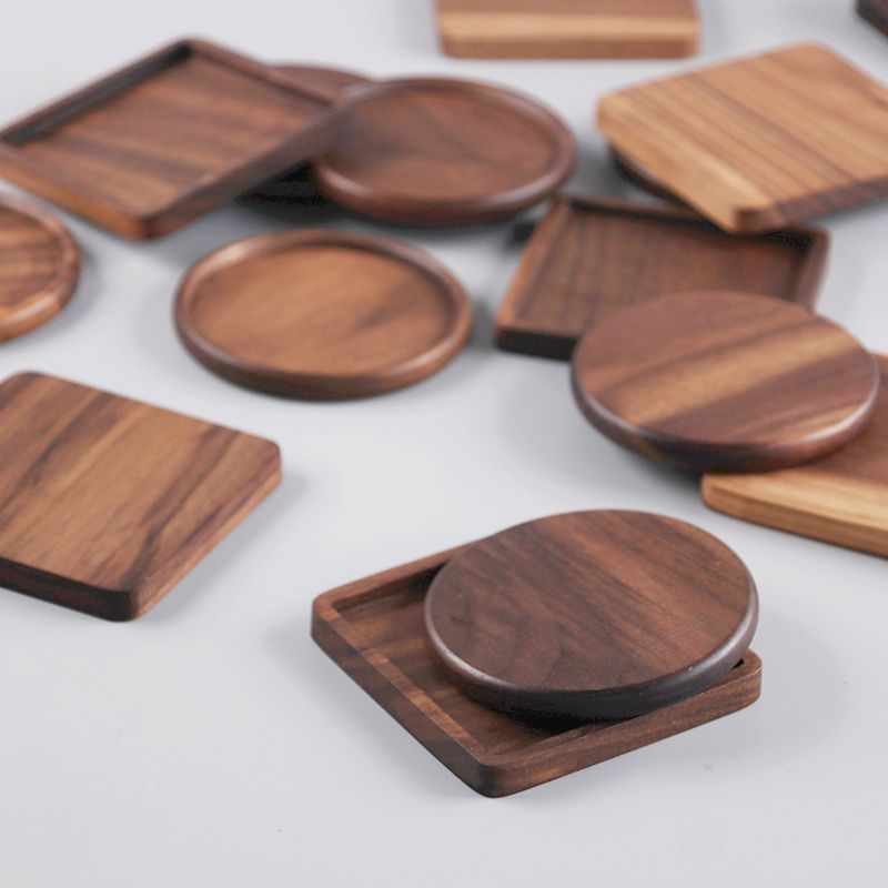 Cheap Cup Pad Buy Quality Wood Coasters Directly From China Drink Coasters Suppliers 4pcs Black Walnut Wo Wooden Coasters Diy Coasters Tile Wood Coasters Diy