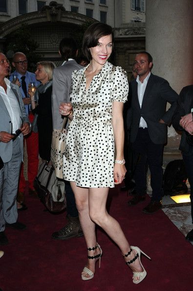 Milla Jovovich Photos: Arrivals at the Savelli Party in Paris