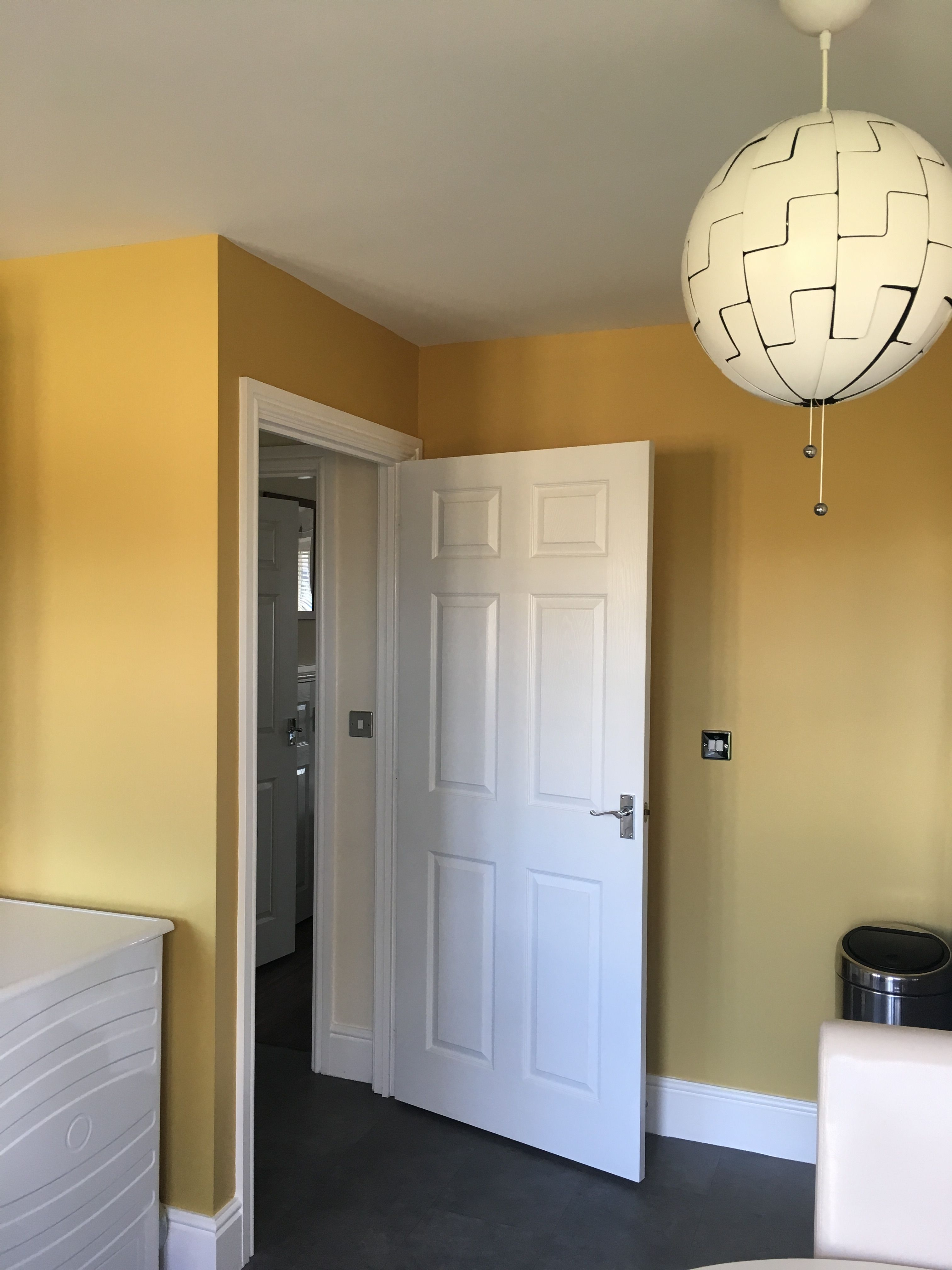 Painted In Valspar Mustard Yellow