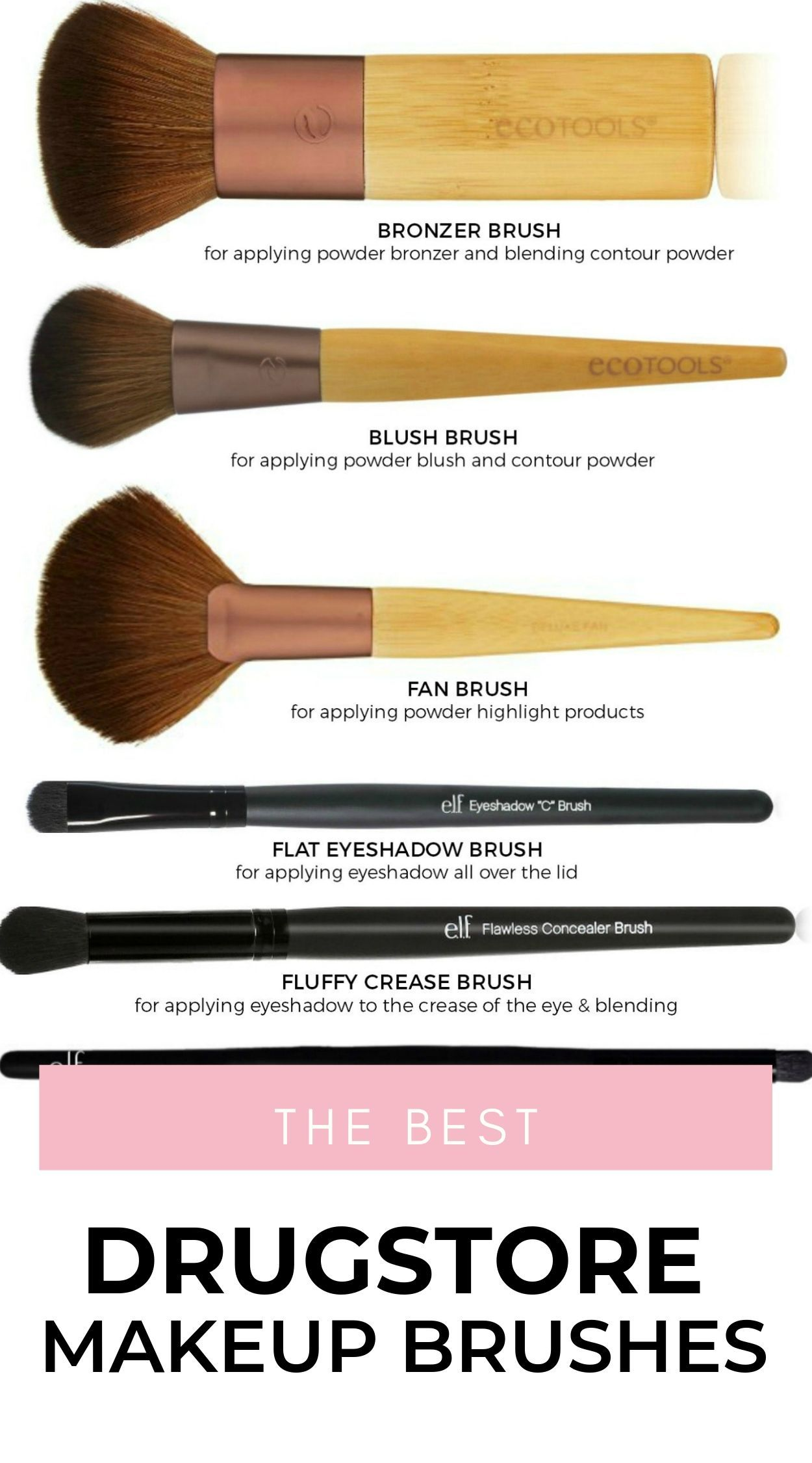 The Best Drugstore Makeup Brushes Best Drugstore Makeup Back To School Makeup Drugstore Makeup