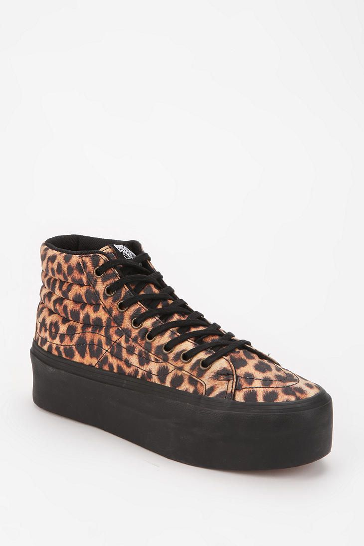 c27e575c07 Vans SK8 Leopard High-Top Platform-Sneaker --these fierce platforms will  keep you comfy and chic at the same time
