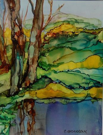 96 DIY Abstract Alcohol Ink Art Ideas - Page 5 of 10 - Usefull Information #alcoholinkcrafts