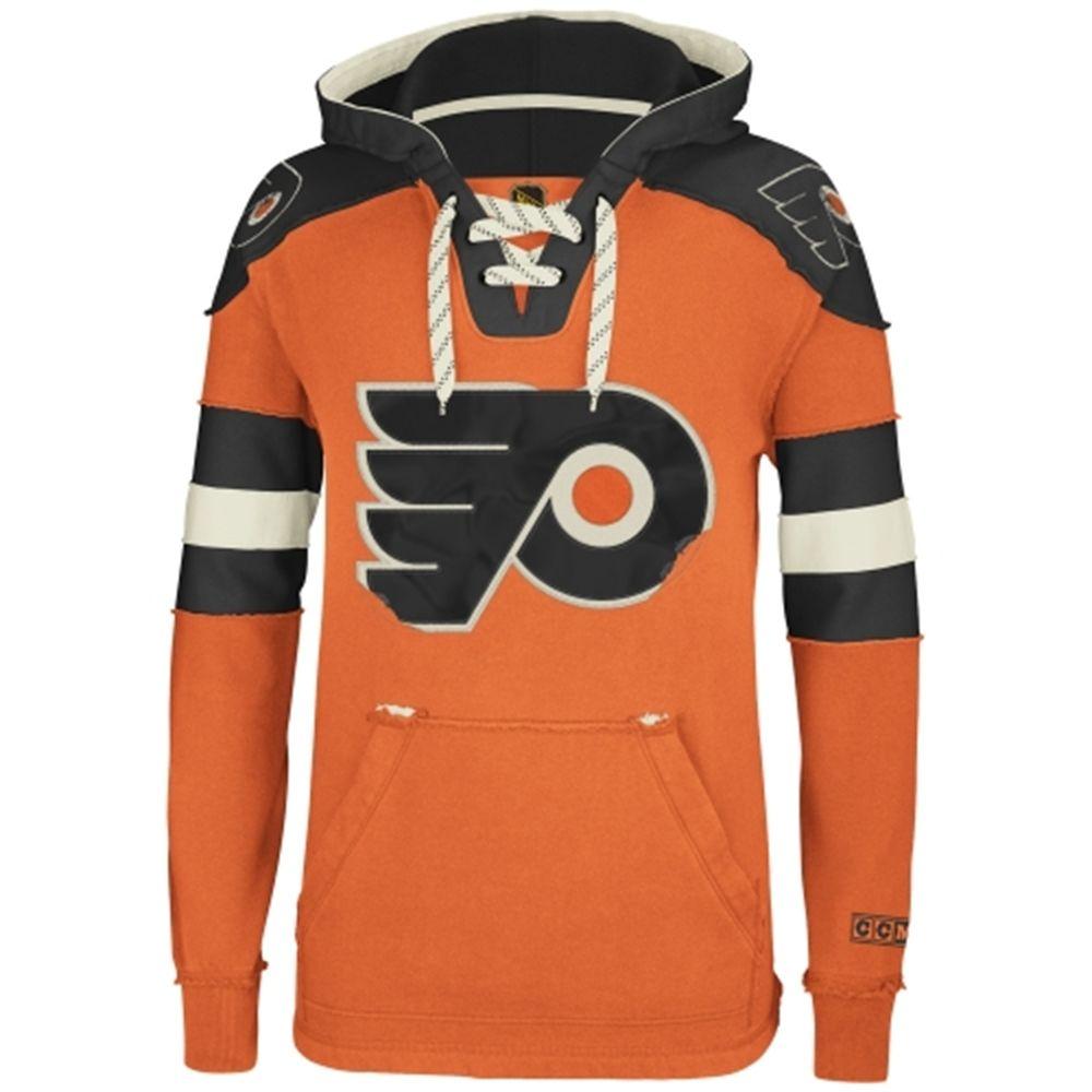 19993c043e1 Reebok Philadelphia Flyers CCM Pullover Hoodie - Orange