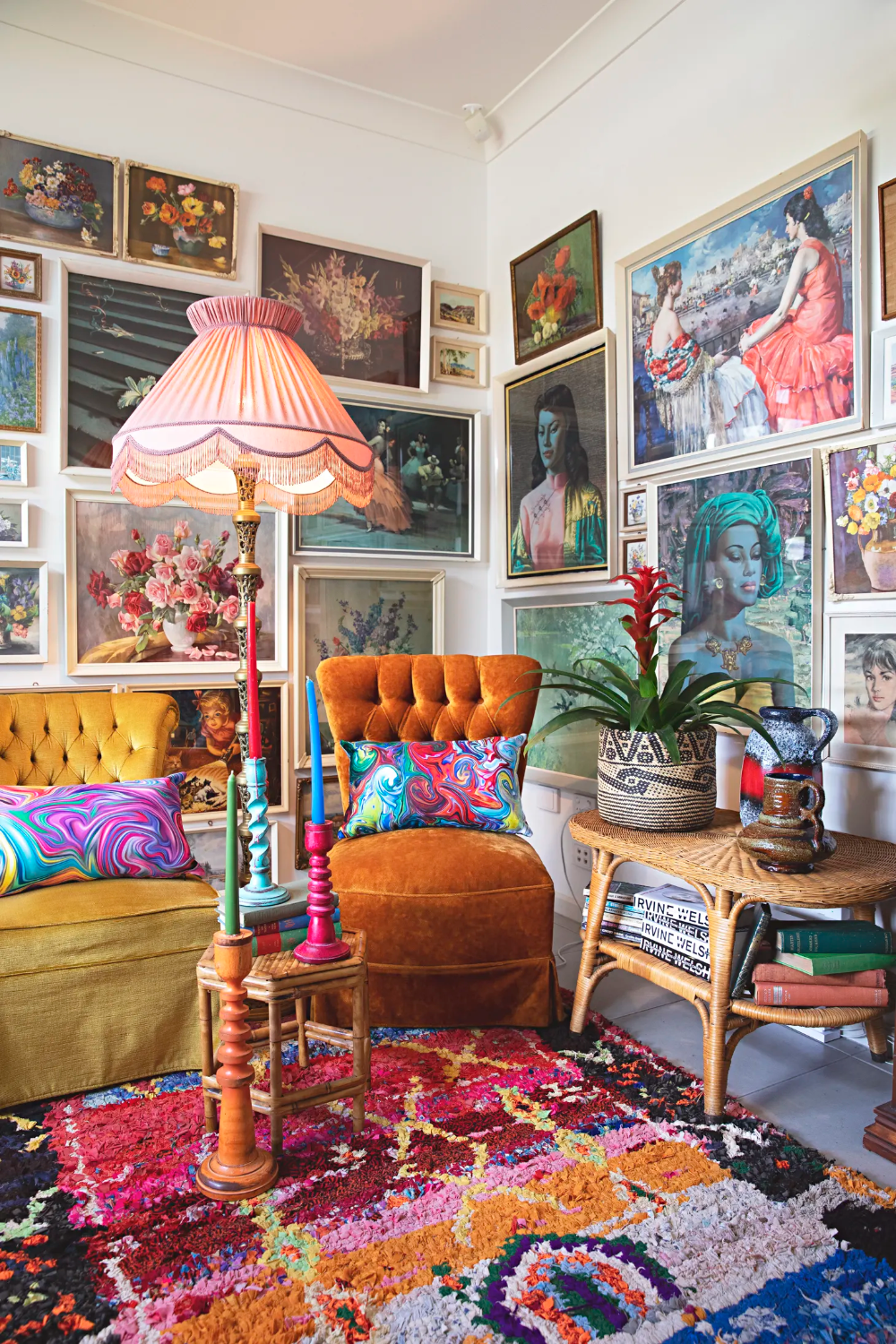Photo of This Plant-Filled, Colorful Australian Home Is the Very Definition of Bohemian Maximalist