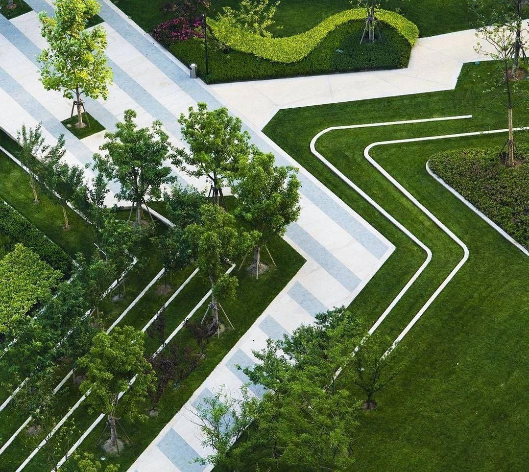 Garden Path Elements Landscape Plaza Landscape Architecture