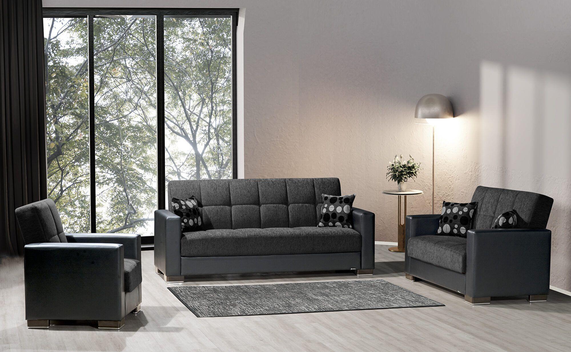 Armada Asphalt Black Sofa 18 Casamode Furniture Fabric Sofas In 2021 Sofa Bed With Storage Fabric Sofa Furniture Fabric