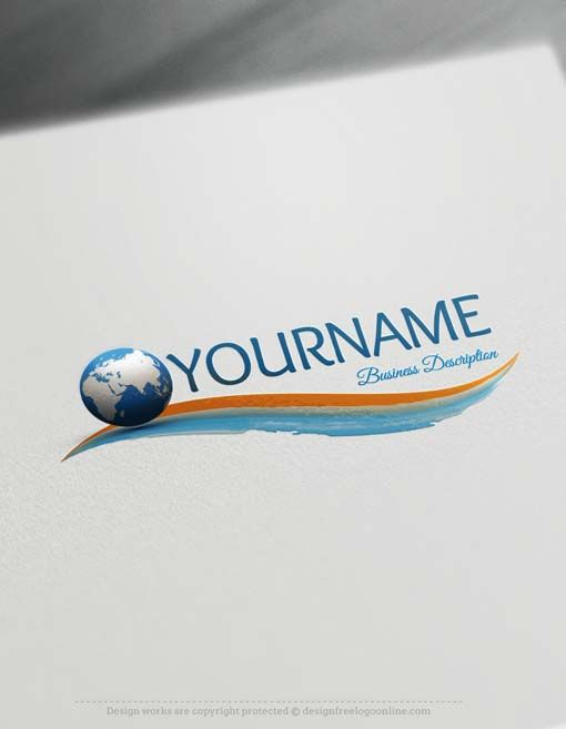 Customize this Globe Logo design with our free logo maker software. Ready made Online globe logo template. This professional Globe Logo design excellent for consulting, management, Travel logos etc.    Creating a Logo with our Free Logo Maker is fast and easy. Browse our ready-made logo gallery and find the perfect Globe Logo template for your business. We have 1,000's of samples for you to choose