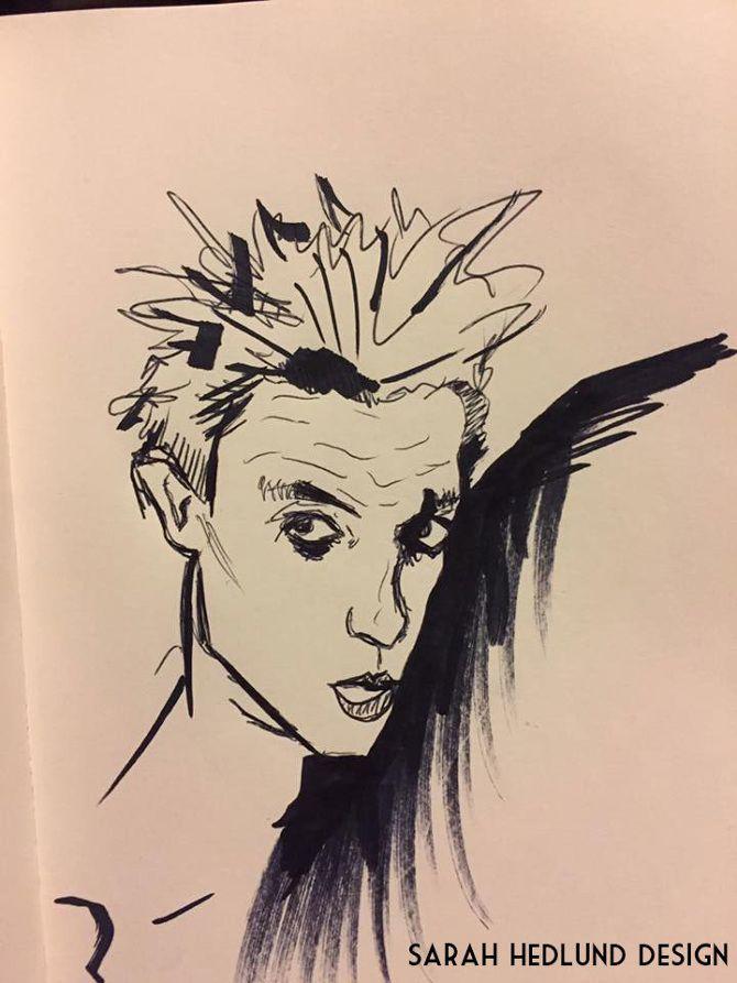 Egon Schelie study, Art by Sarah Hedlund Design.