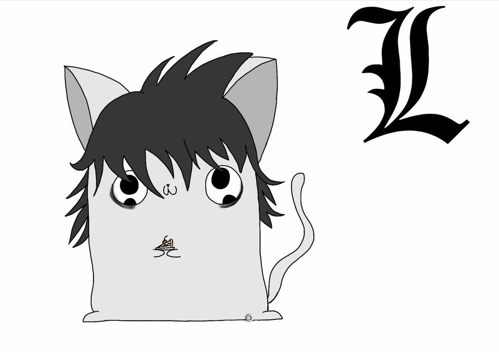 L Marshmellow Kitten (Death note) by Artmania1234.deviantart.com on @deviantART
