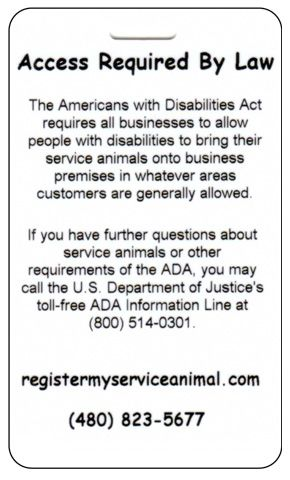 Emotional Support Animal Service Animal Registration No Dispute