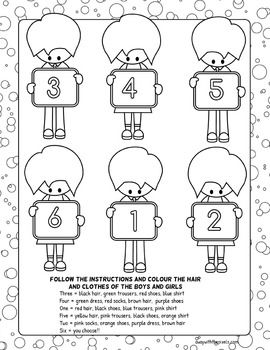 Heres A Educational Coloring Page For Young English Learners Beginner ESL Will Practice Reading