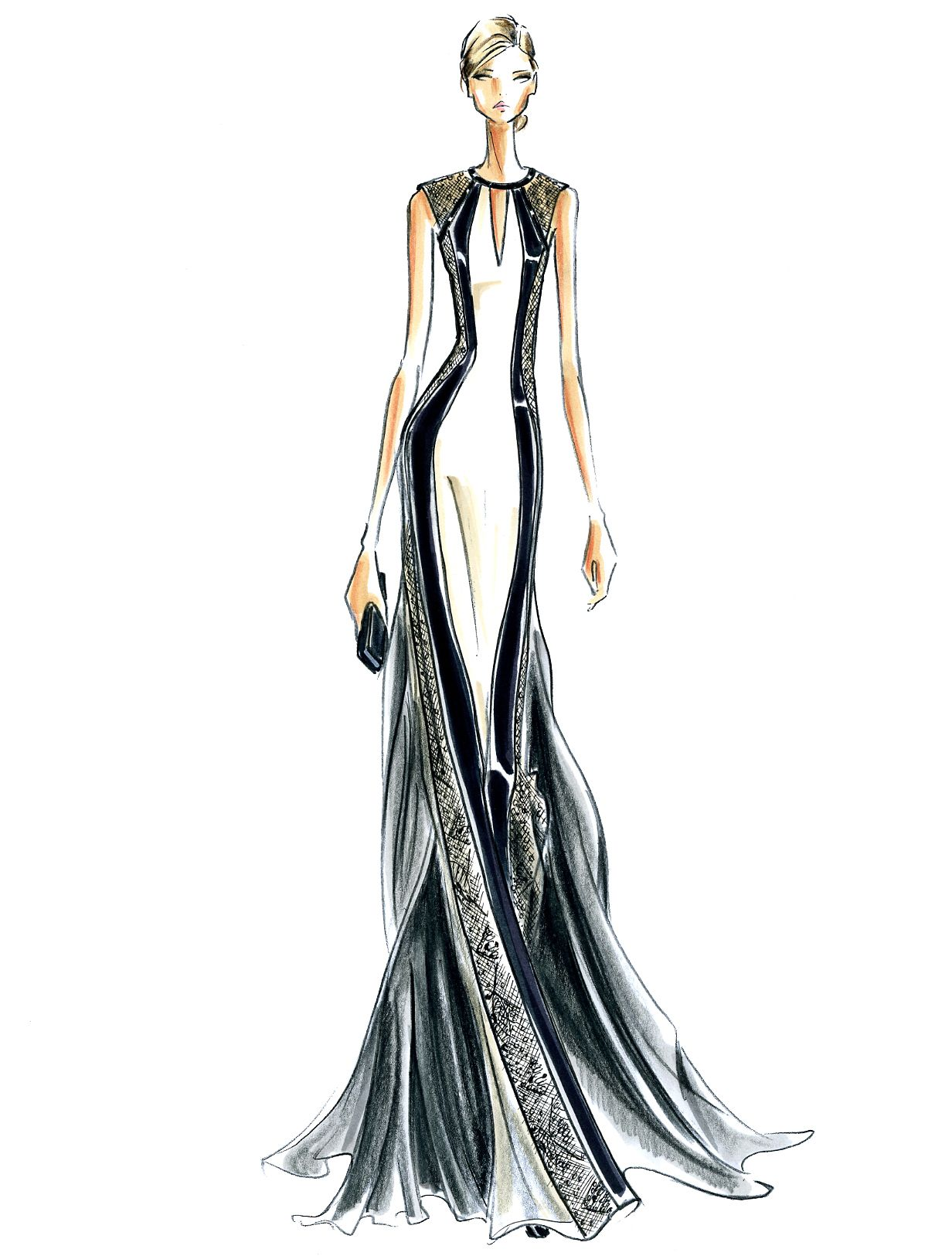 J. Mendel Fashion Illustration Fall 2014