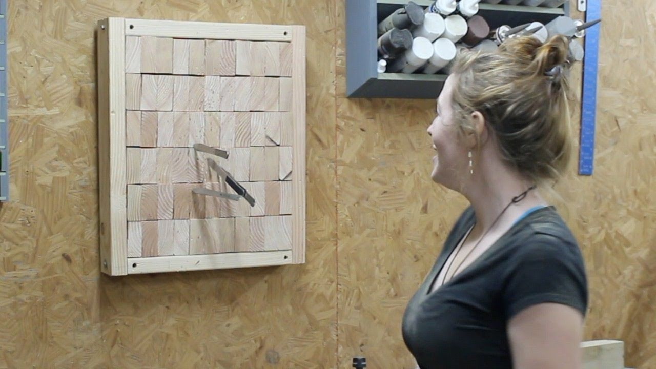 Making an End Grain Knife Throwing Target | April Wilkerson ...