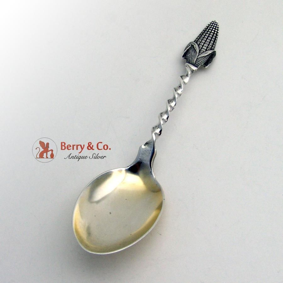 S MOUNT VERNON STERLING ICE CREAM SPOON ANGELO-KNOWLES